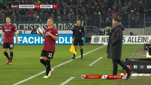 汉诺威VS拜仁慕尼黑:再次发动进攻,外围远射拜仁再次进球