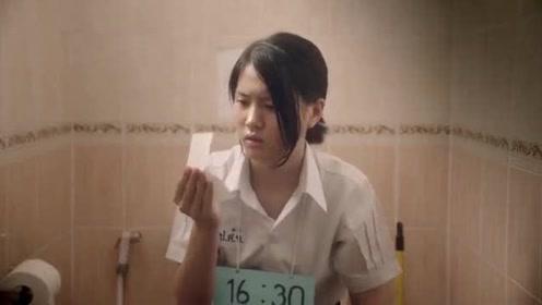 泰国脑洞大开搞笑广告, 解决大油脸就这么简单。