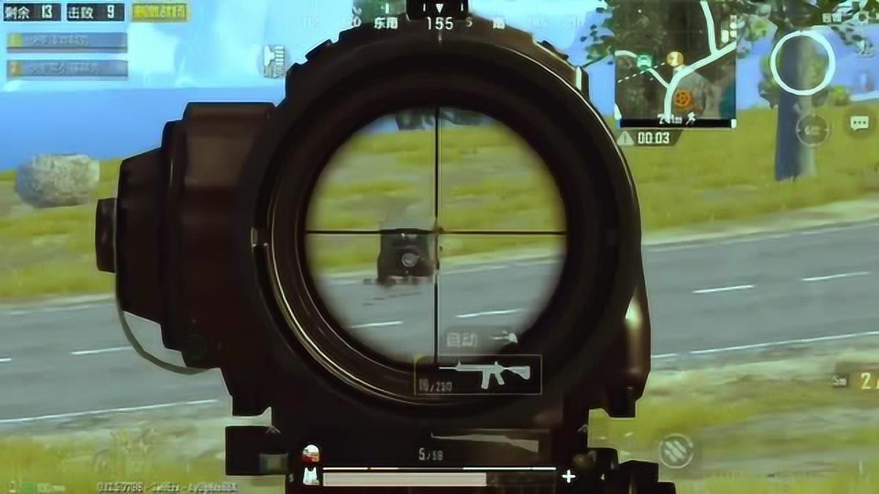 刺激战场:野区小王子,已经手持六倍M4杀人狂魔以上线!