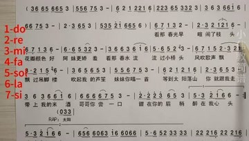 曲剧教简谱_曲剧常用过门简谱