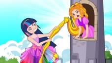 公主为了逃离城堡,拿出魔法扫帚四处飞行,却总被侍卫发现!