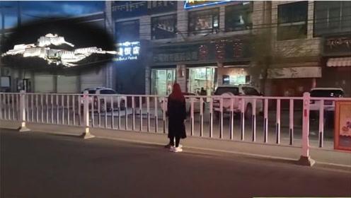 江孜看小布达拉宫,偶遇女孩以为她要翻栅栏,网友:小姐姐都麻了