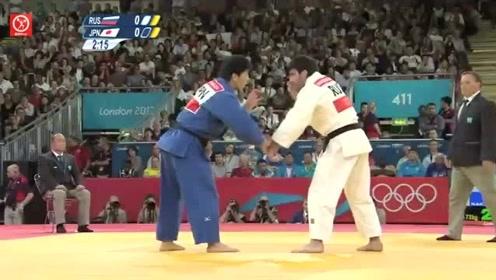 奥运会柔道比赛精彩集锦,高手对决一招儿定胜负