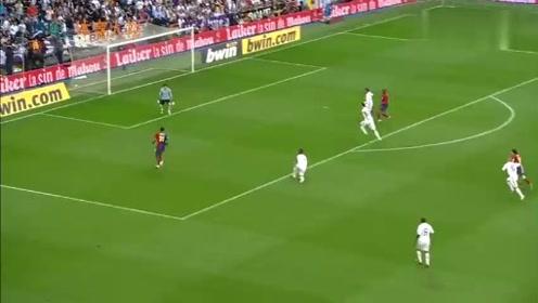 08-09赛季西甲国家德比:梅西、亨利梅开二度,巴萨6-2逆转皇马!