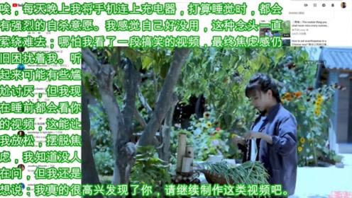 李子柒不愧是中国第一网红,一个外国网友看她的视频摆脱了厌世情结!