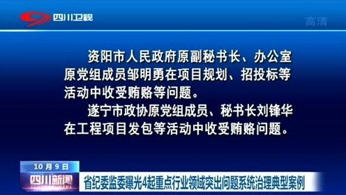 四川:省纪委监委曝光4起重点行业领域突出问题系统治理典型案例