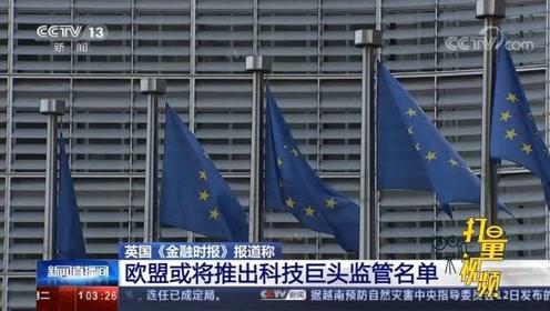 英国《金融时报》:欧盟或将推出科技巨头监管名单