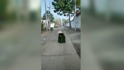 正拍着视频着,突然一辆车过来,不知道把司机吓到没有啊!