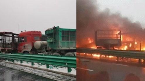 最新通报!包茂高速43车连撞已造成3死6伤,事故现场十分惨烈!