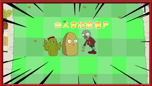 植物大战僵尸搞笑动画:仙人掌太强了,僵尸毫