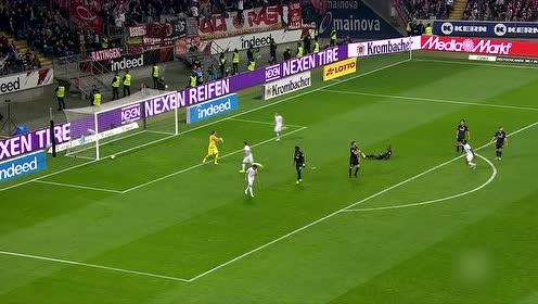 法兰克福7-1狂胜杜塞 20岁小将独进5球创德甲新纪录