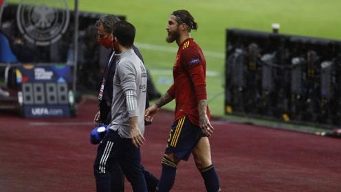 太难了!皇马官方宣布拉莫斯右腿受伤 将无缘欧冠对阵国米比赛
