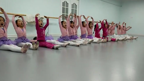 """一群可爱的小朋友,芭蕾舞演绎""""惊恐""""百灵鸟"""