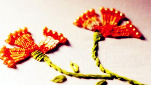 手工刺绣:diy创意手工与串珠一起缝制美丽花卉抱枕图案
