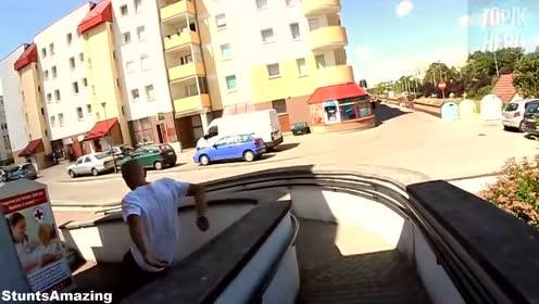 世界前3名的跑酷视频集锦 高手都喜欢作死!