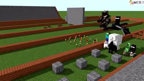我的世界搞笑动画:MC中的动物赛跑