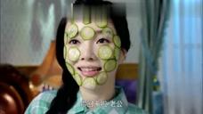 煮妇神探:李小璐贴黄瓜片保养皮肤,老公:你买的是昨天降价黄瓜吧