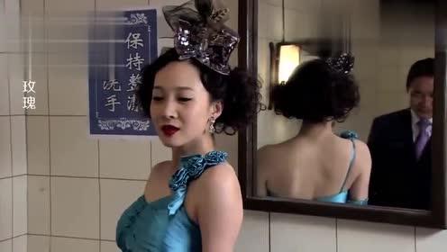影视:美女对汉奸施展美人计,在嘴唇上涂毒口