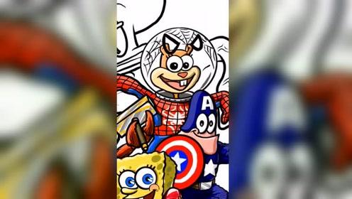 如果海绵宝宝一伙变成漫威英雄,谁会是最厉害
