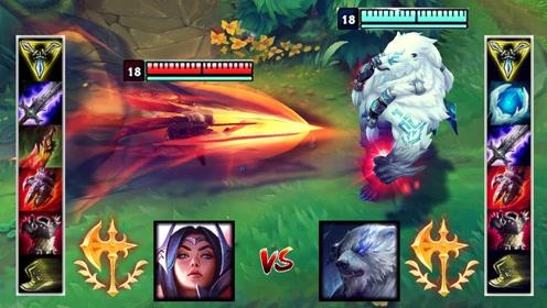 神装刀妹VS神装狗熊 哪个英雄更强?