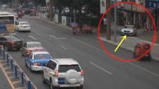 疯狂的宝马司机,街头横冲直撞肇事逃逸!要不是监控谁信