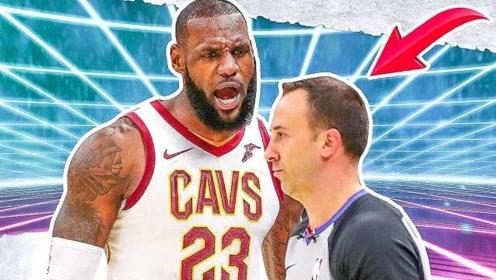 NBA球员和裁判的火爆时刻 裁判不吹犯规詹姆斯挥拳怒冲裁判