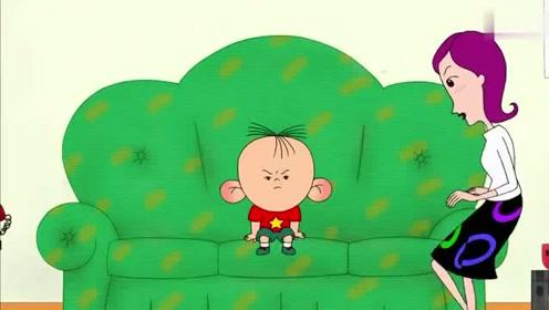 图图今天很反常,没有在家闯祸,安静的看电视
