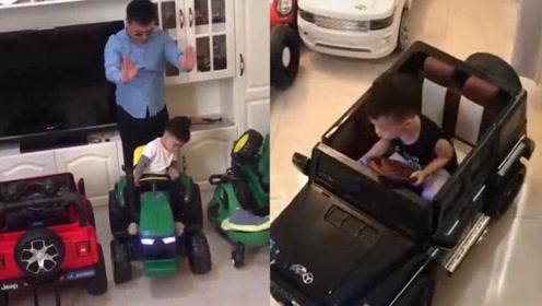 """小车神!5岁男孩轻松倒""""车""""入库,父亲立刻购置几十辆""""豪车"""""""