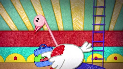 涂鸦宝宝学字母:章鱼穿上戏服,成了马戏团最
