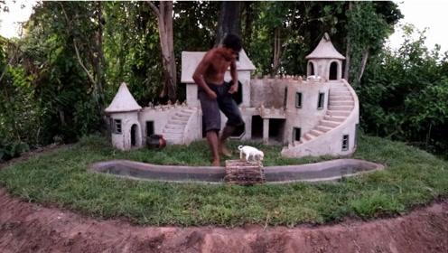 从洪水中救出小狗&建造最中世纪城堡的小狗之家