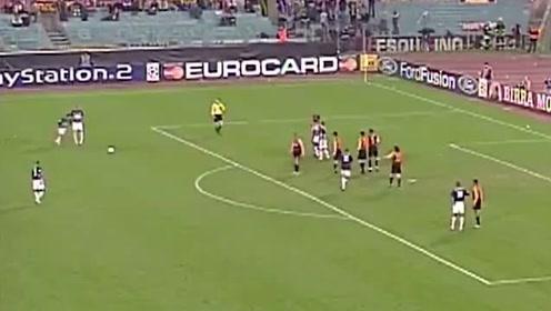 天价人墙!欧冠亨利任意球直接打穿托蒂与巴蒂组合人墙,谁都拦不住!