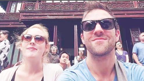 德国夫妻游中国上海浦西,在城隍庙体验老上海民风