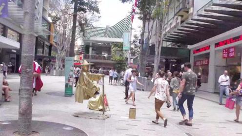 穷游夫妻游世界!逛澳洲第三大城市!市中心这个样子!看看像几线