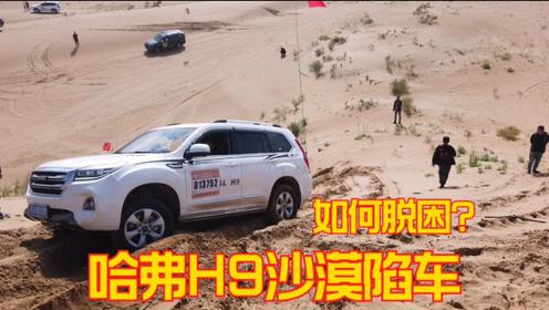 阿拉善英雄会,穿越腾格里沙漠,哈弗H9都陷车了,看如何脱困?
