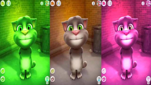 英文益智早教动画,会说话的汤姆猫搞笑视频教小朋友学颜色