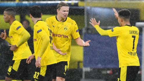 哈兰德进球,桑乔点射,欧冠小组赛多特主场2-0战胜泽尼特!