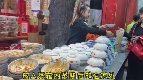 山西特色美食3元一碗,一天卖1000多碗,拌上调料比凉皮好吃百倍