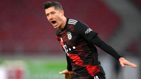 德甲-科曼传射莱万世界波,拜仁3-1逆转斯图加特