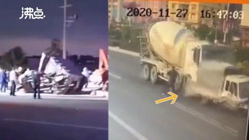 莆田水泥搅拌车与农用车相撞 致9死7伤 事发监控曝光