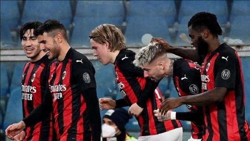 凯西、卡斯蒂列霍进球,AC米兰2-1桑普多利亚5分优势领跑意甲!