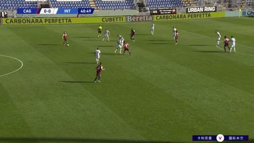 意甲联赛:卡利亚里-国际米兰 1:3精彩进球