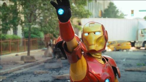 钢铁侠刚要摆pose,就被*牛砸成钢铁罐头,这部恶