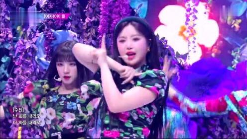 (G)I-DLE新曲《火花HWAA》音乐银行打歌舞台