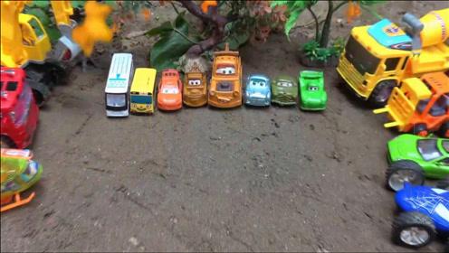 挖掘机和工程车发现汽车玩具,儿童益智,婴幼儿宝宝早教游戏视频