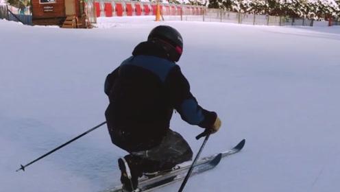 滑雪滑出了复古迪斯科的感觉! 原来你这么懂享受生活