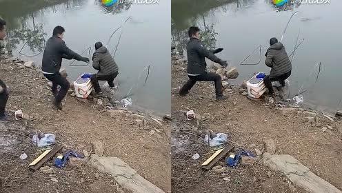 什么鱼这么大的劲儿啊?这钓鱼辛苦!