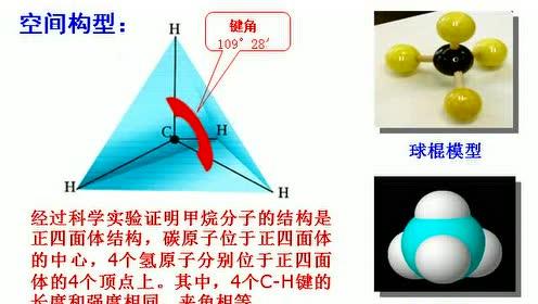 高中化学必修二第三章 有机化合物 第1节 最简单的有机化合物——甲烷