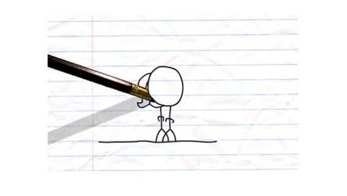 搞笑轻松创意铅笔画小人 铅笔和火柴人的一面之缘游戏