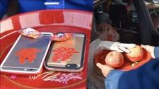 婚礼神操作!iPhone替代真苹果,新郎摸苹果手机