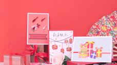 再见2018,你好2019新年贺卡,衍纸爆表 红红火火迎新年